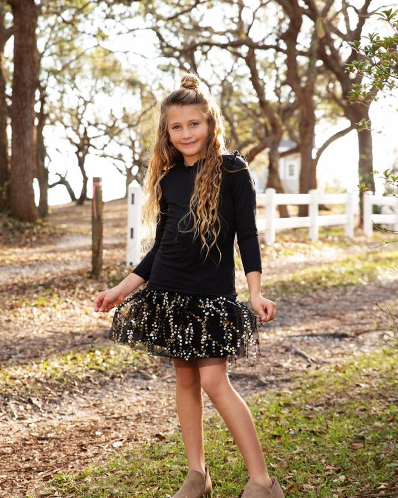 Kids Sequin Skirt