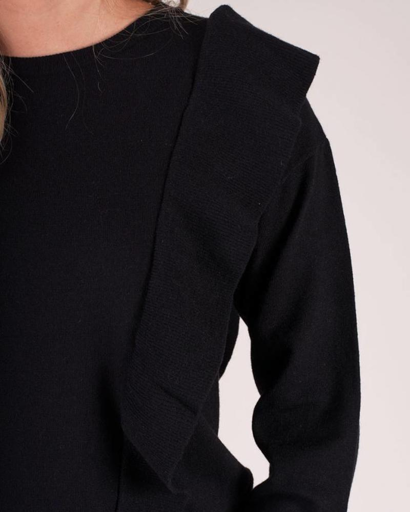 Gabby L/S Knit Ruffle Sweater
