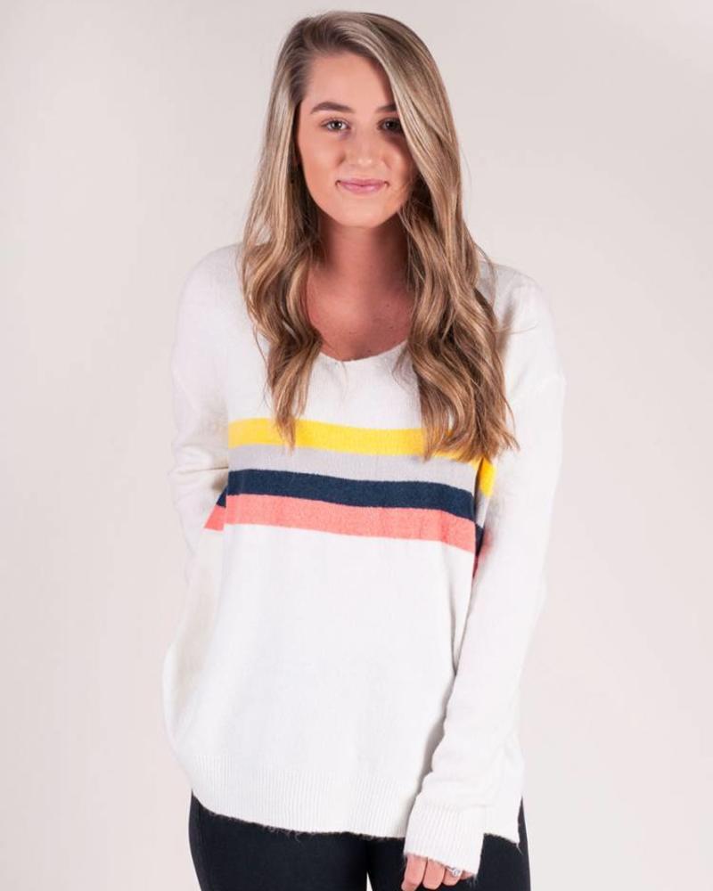 Scarlett L/S MultiColor Stripe Sweater