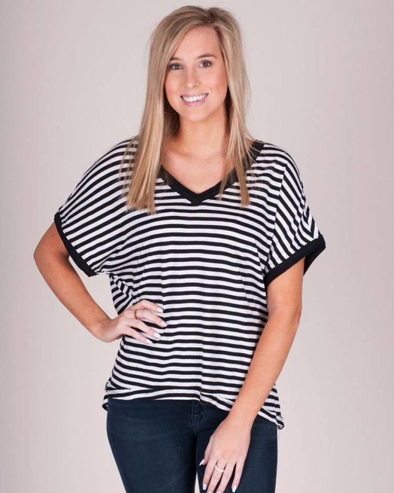 Z Supply - The Stripe Boyfriend VNeck Tee