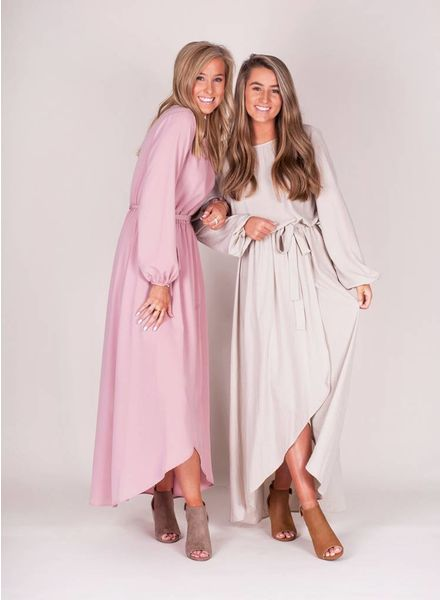 Courtney L/S Wrap Maxi
