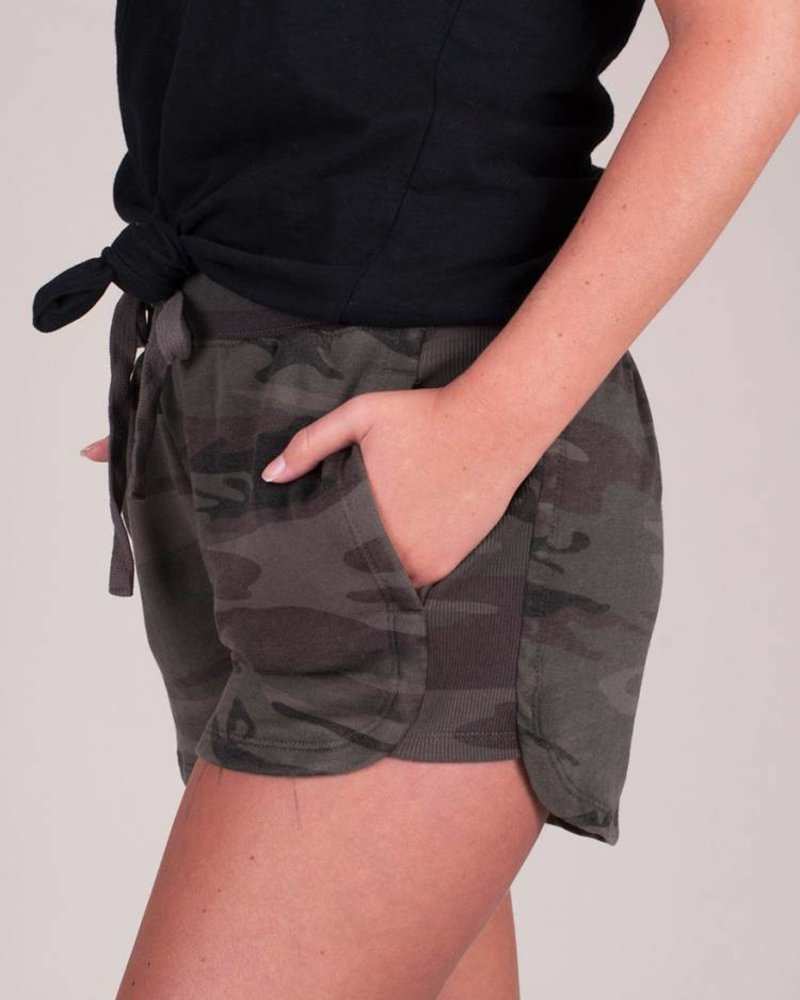 Z Supply - The Camo Knit Runner Shorts