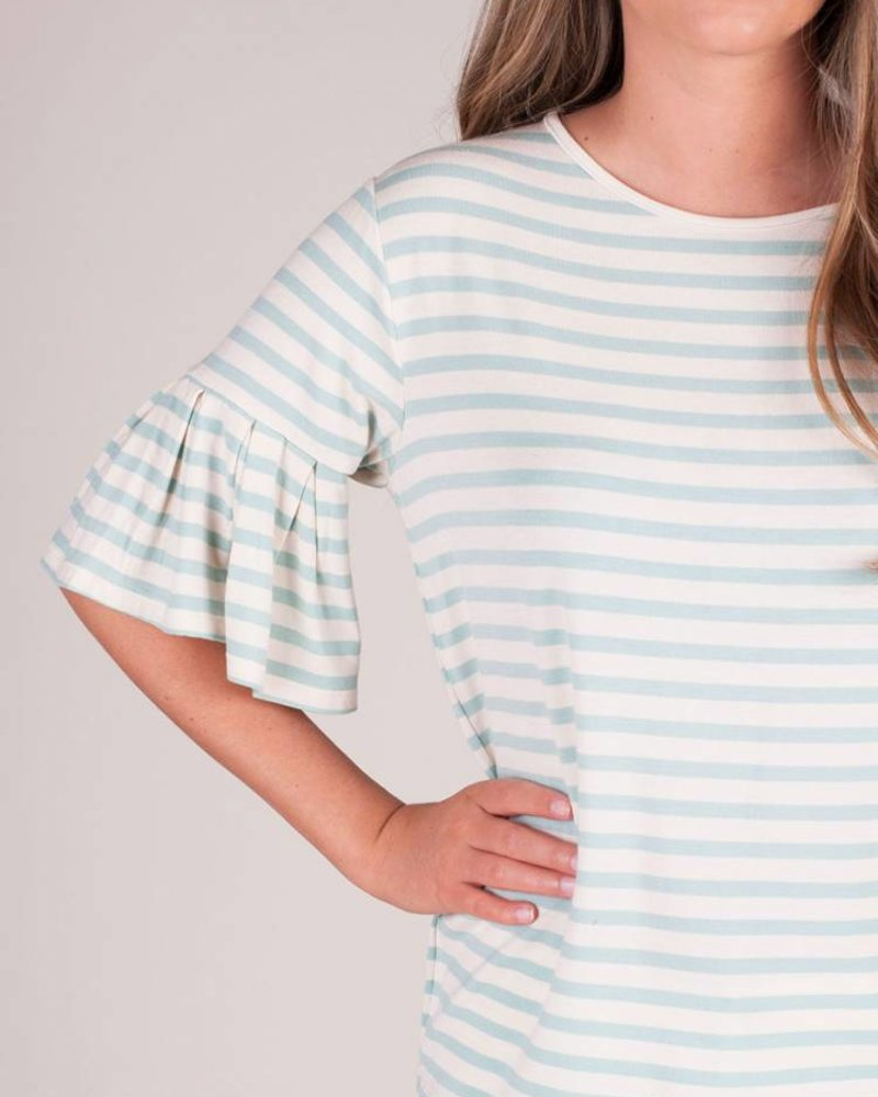 Z Supply - The Striped Ruffle Tee