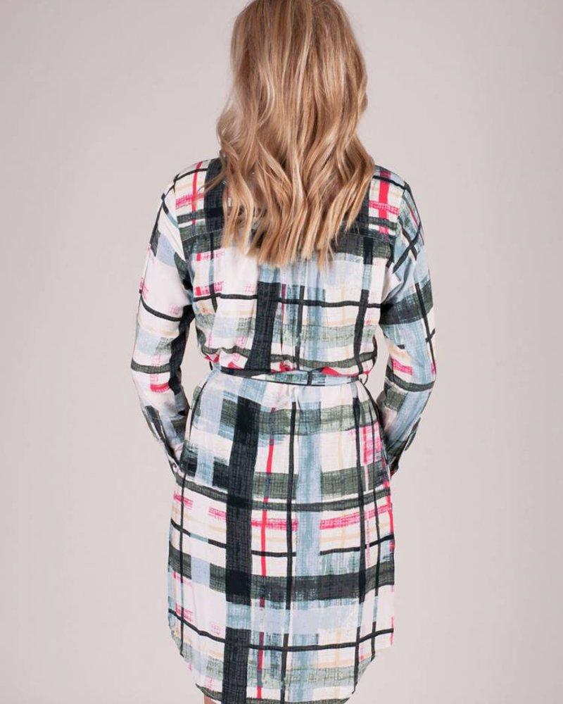 Molly Window Pane Shirt Dress