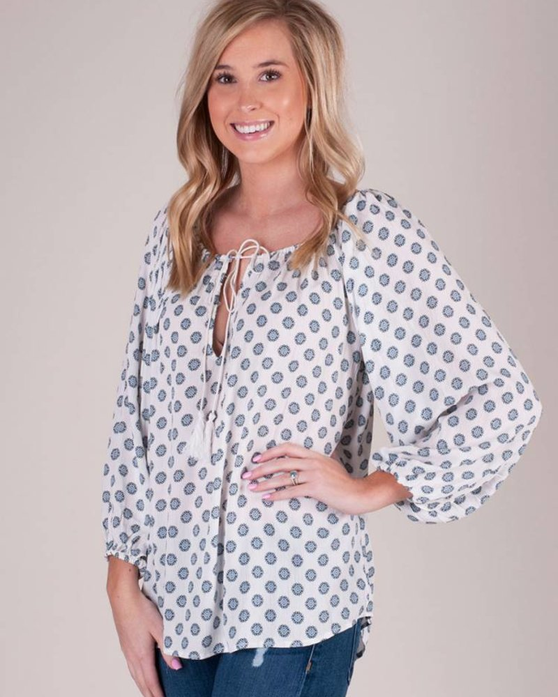 Ryleigh Medallion Peasant Top