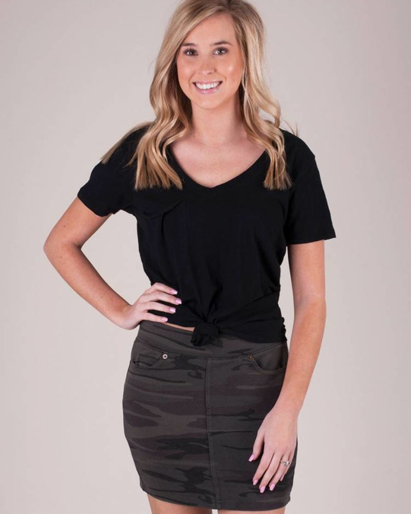 Z Supply - The Camo Knit Mini Skirt
