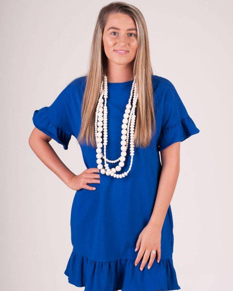 Addison S/S Ruffle Hem Dress