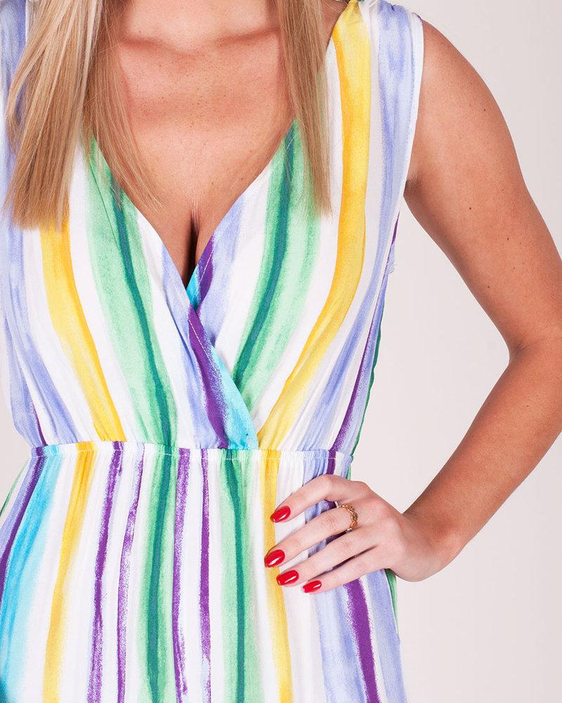 Anna Multi Stripe Jumpsuit