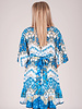 Lila S/S Mixed Print High Low Dress