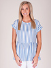 Isla S/S Stripe Baby Doll Top