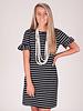 Vivi S/S Stripe Ruffle Sleeve Dress