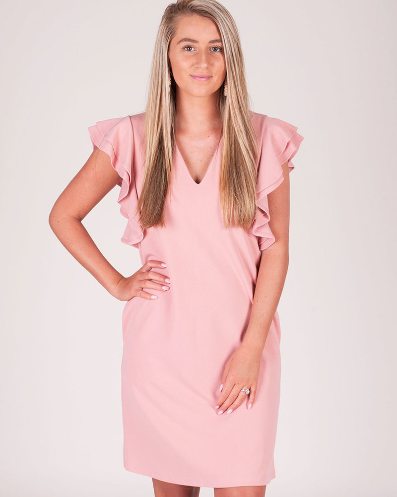 Reagan S/S Tiered Ruffle Sleeve Dress