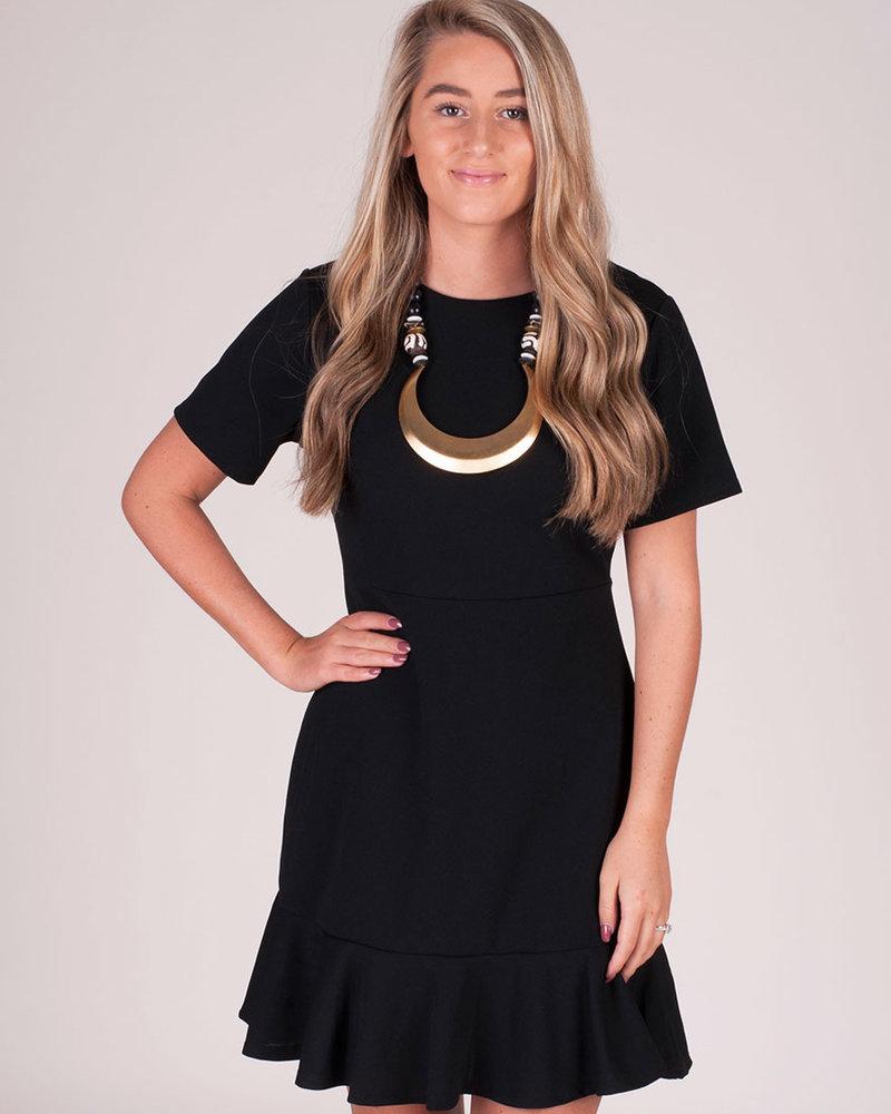 Emily S/S Fluted Hem Dress