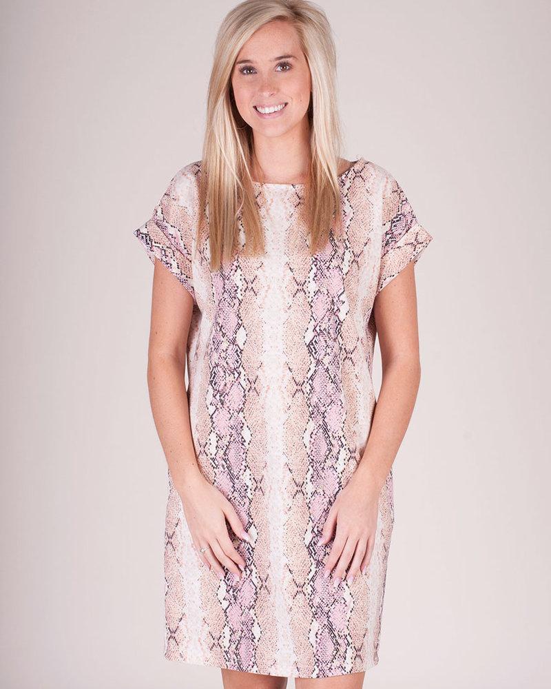 Cora Snake Print TShirt Dress