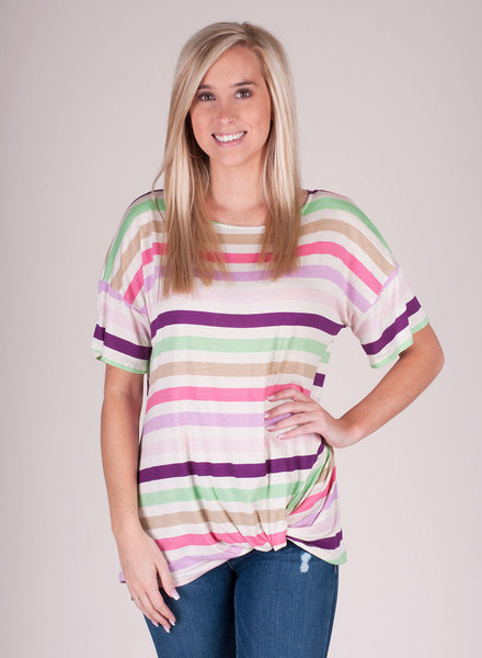Katie Stripe S/S Top
