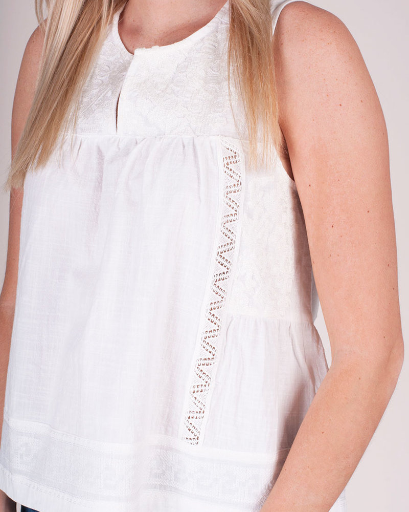Embroidered S/L Tank