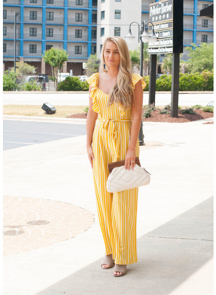 Mia Striped Ruffle Jumpsuit