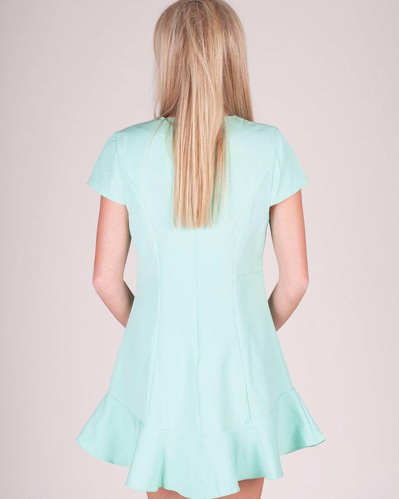 Isabella S/S Dress w/ Flounce