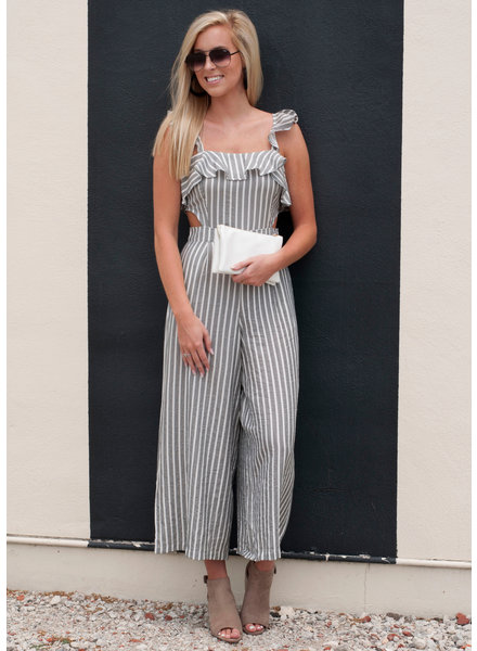 Abigail Striped Wide Leg Jumpsuit