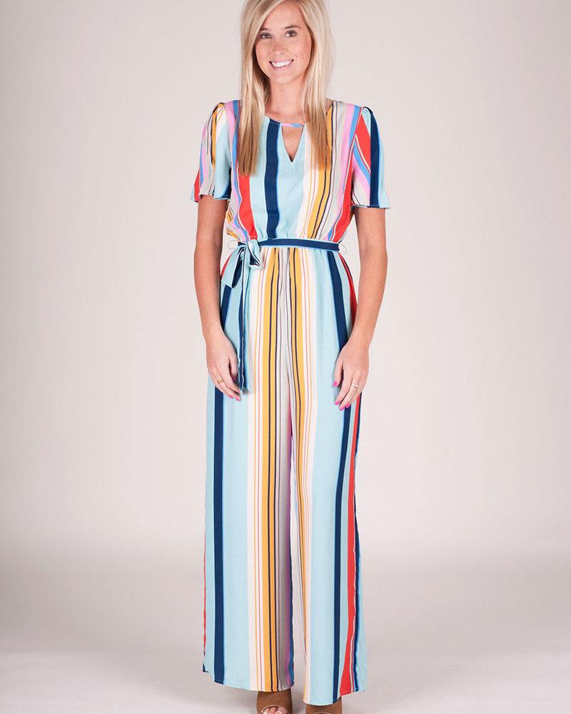 Charlotte S/S Stripe Jumpsuit