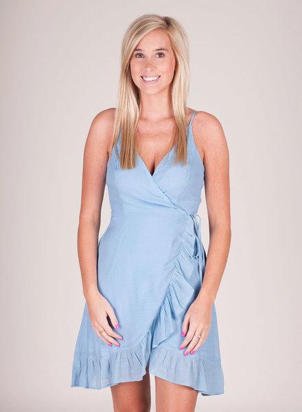 Linda Wrap Dress w/ Frill