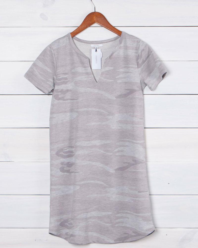 Z Supply - The Camo Split Neck Dress