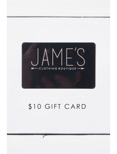 $10 Jame's Gift Card