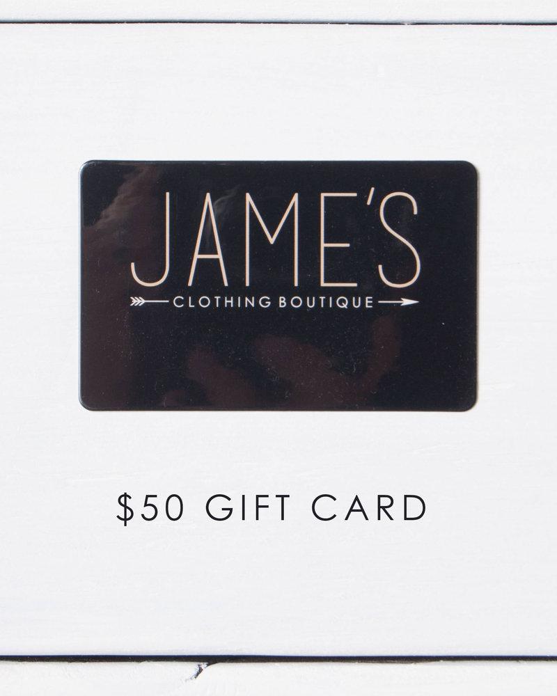$50 Jame's Gift Card