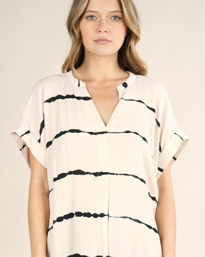 Bethany S/S Blurred Stripe Top