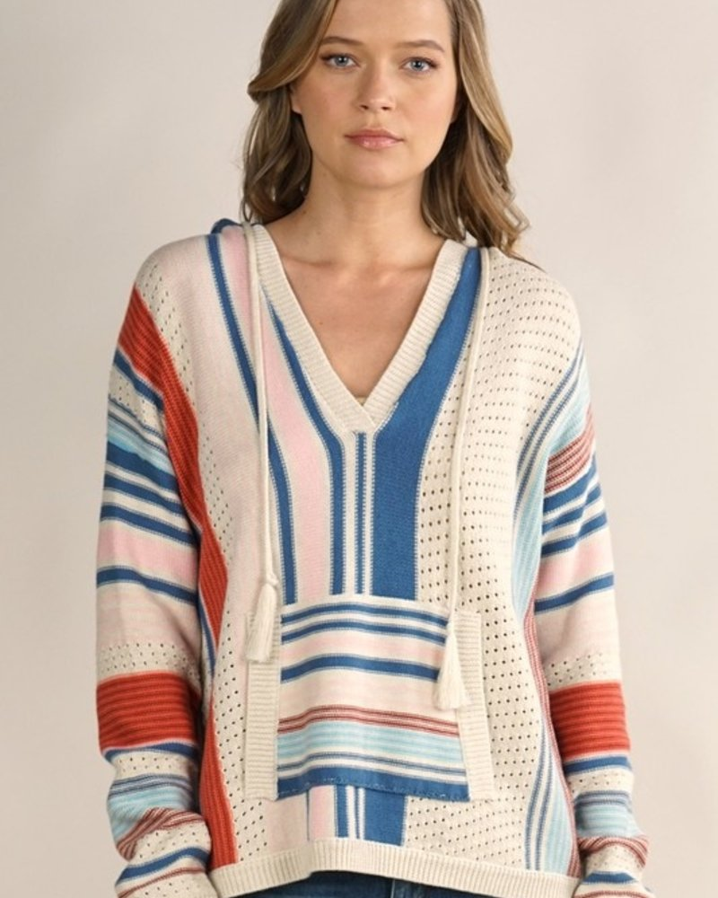 Carrie Striped Hoodie Sweater