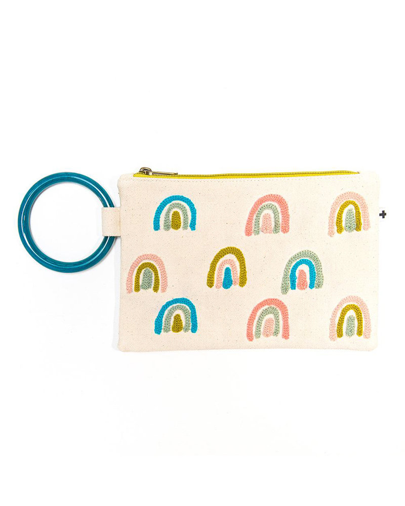 Ink+Alloy - Embroidered Canvas Clutch