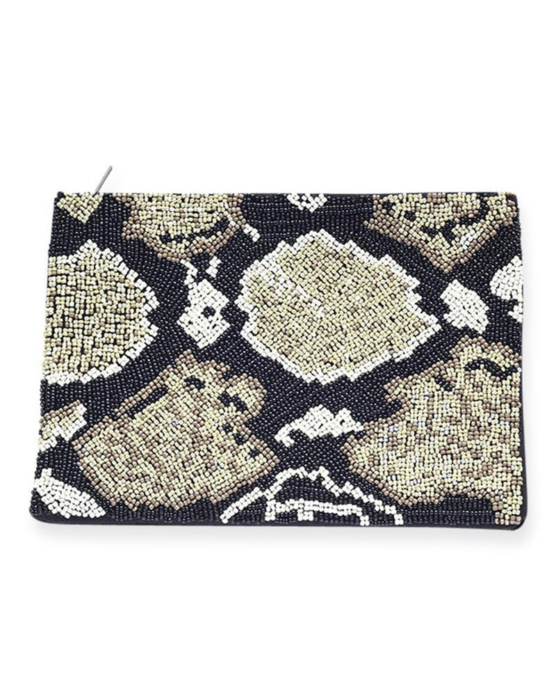 Ink+Alloy - Beaded Clutch
