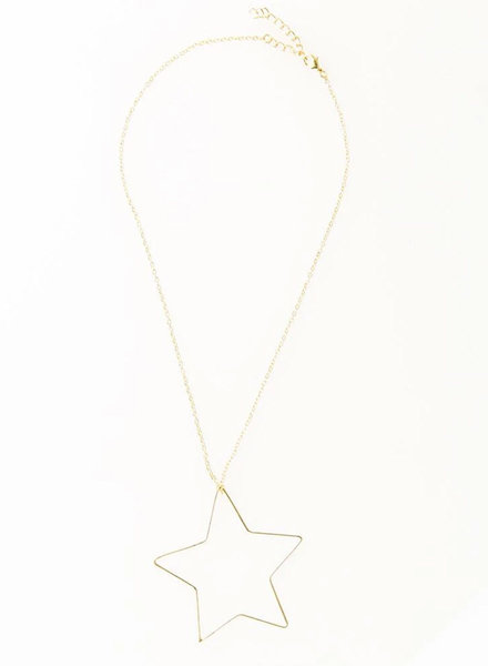 Ink+Alloy - Open Star Wire Necklace