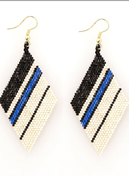 Ink+Alloy - Diamond Luxe Stripe Earring