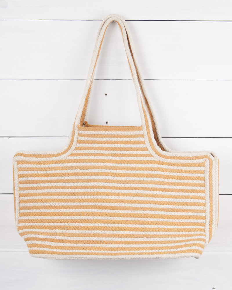Hand Woven Striped Tote
