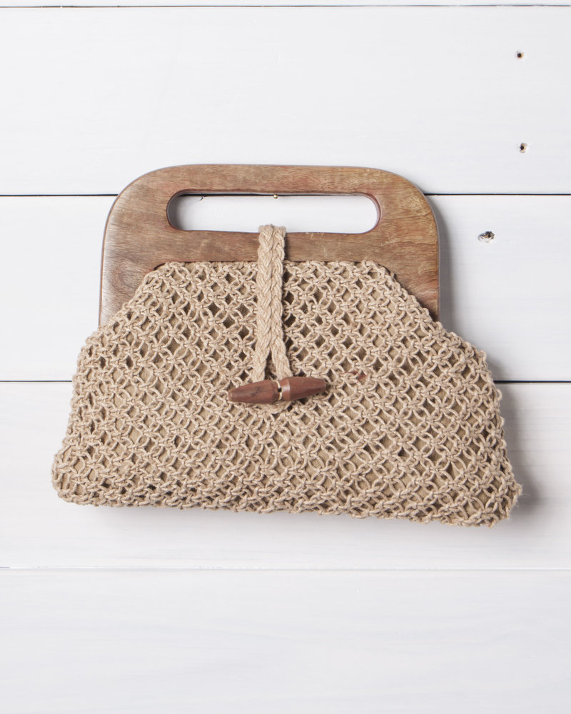 Clutch w/ Wood Handle