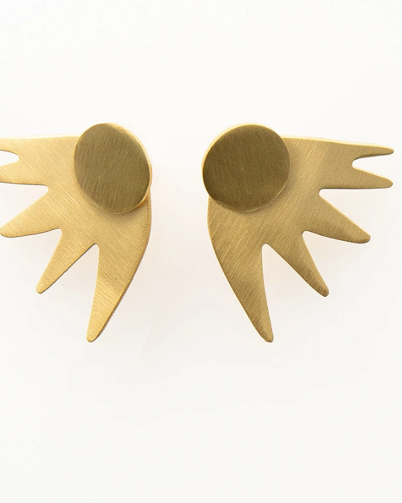 Ink+Alloy - 2 Piece Burst Earring