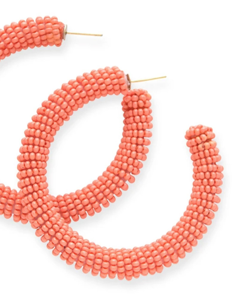 Ink+Alloy - Solid Seed Bead Hoop