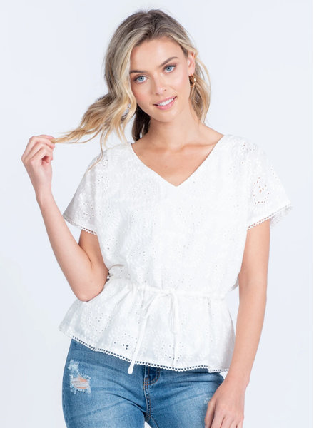 New Beginnings Eyelet Top