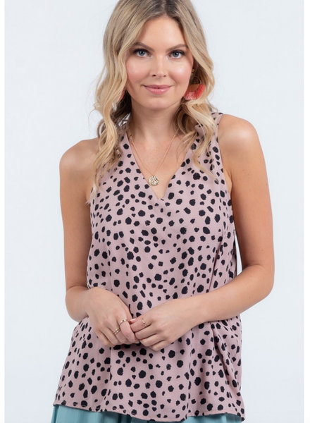 Seeing Spots Mauve Print Top
