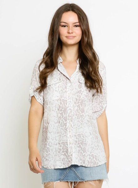 Ryleigh Snake Roll Up Sleeve Shirt