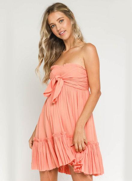 Emma Strapless Tiered Dress