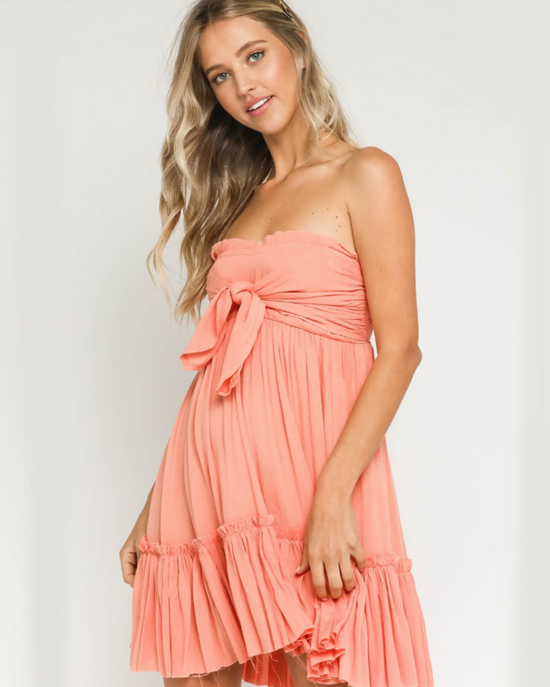 Emma Strapless Tiered Dress