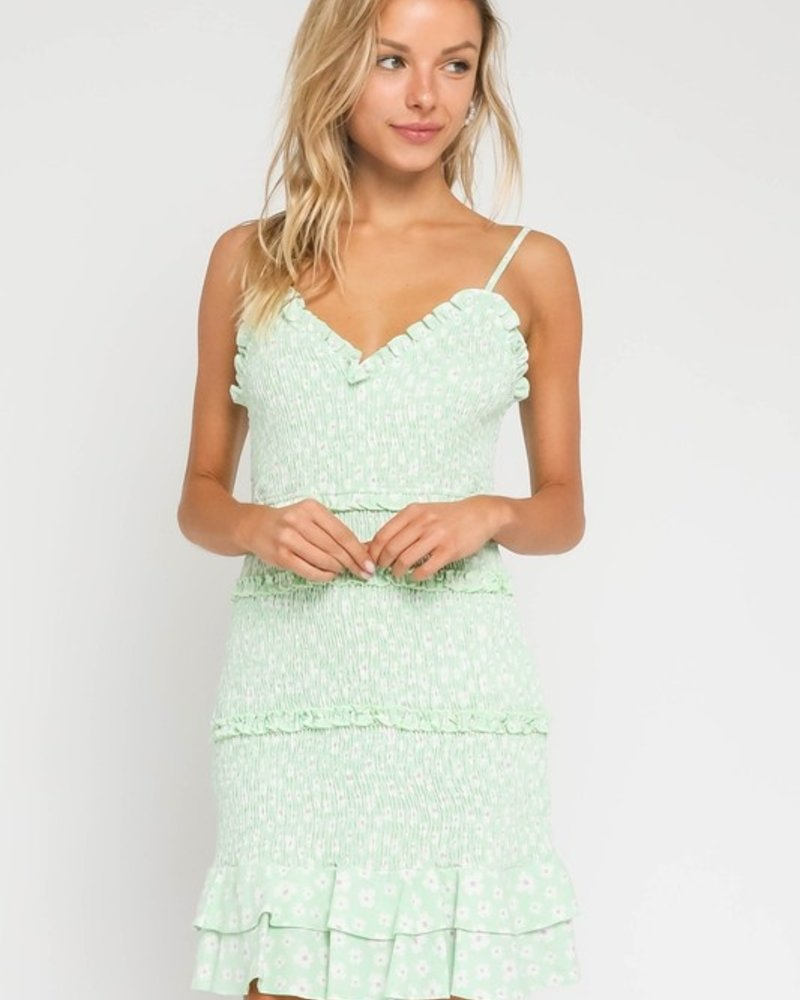 Haisley Ditsy Floral Smocked Dress
