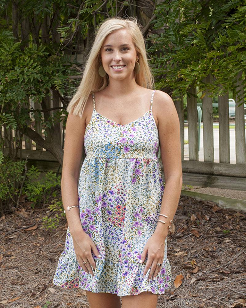 Garden Bloom Mini Dress