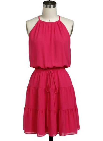 Halter Tiered Mini Dress