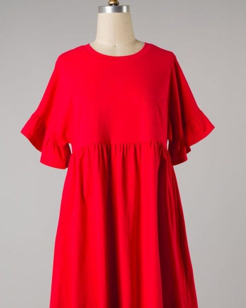 Ruby Shirred Knit Dress
