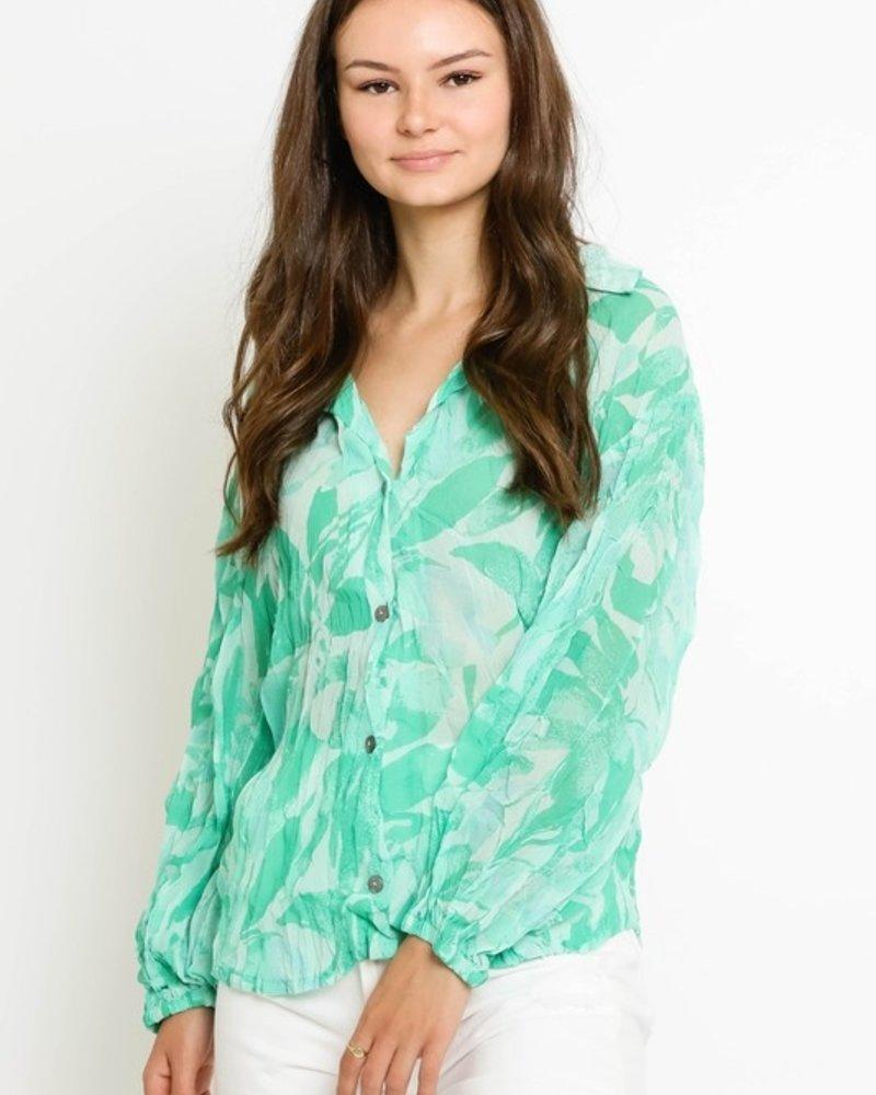 Mary L/S Palm Shirt