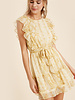Aspen Snake Print Ruffle Dress