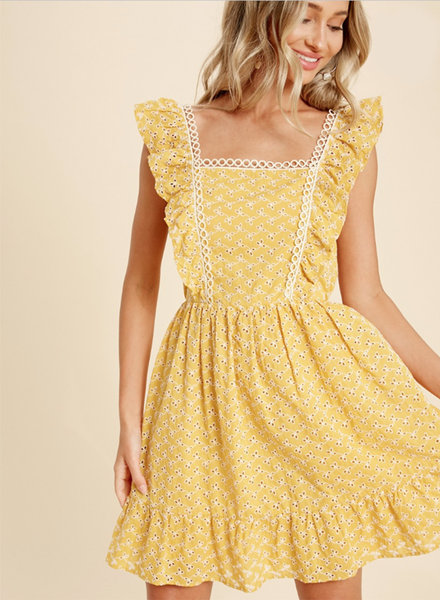 Angela Eyelet Dress